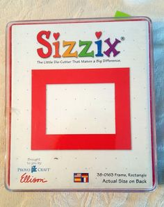 Sizzix 38-0163 Frame Rectangle Large Red Die Cut Scrapbook Provo Craft Ellison #Sizzix