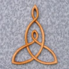 Mother and Child Knot -Wood Carved Celtic Knot Mothers Love
