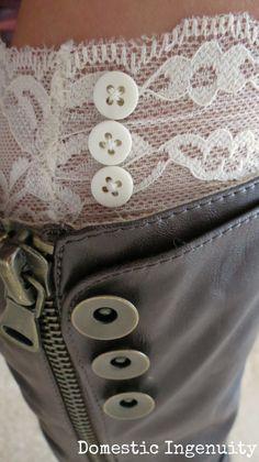 DIY lace boot cuffs