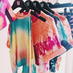 You can easily make your own tie dye tops with sharpies and rub in alcoholic in a spray bottles! Easy! Have a go x x x x