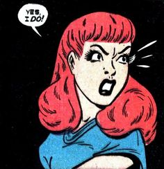 "Comic Girls Say.. ""Yes .I do! "" #comic #popart #vintage"