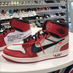 7c0d5fdc53f Off-White Air Jordan 1 Chicago 9.5 Brand New Off-White Shoes Athletic Shoes