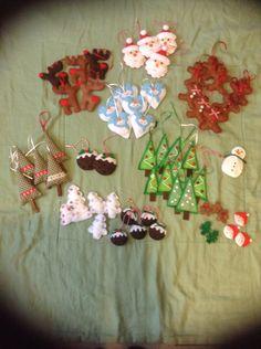 Hand made felt Christmas decorations