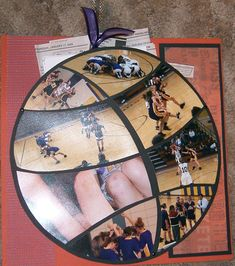 the basketball is actually a pocket for all the newspaper clippings and a stats book for the year. Basketball Crafts, Basketball Decorations, Basketball Room, Basketball Tricks, Locker Decorations, Basketball Posters, Basketball Pictures, Sports Basketball, Basketball Stuff