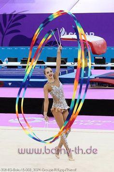 #ribbon in #rhythmic_gymnastics #RG #rhythmic #gymnastics World Of Sports, Rhythmic Gymnastics, Ballet, Leotards, Russia, Twins, Ribbon, Dance, Recipes