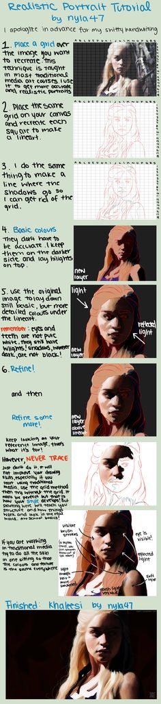 Realistic Portrait Tutorial by HaNJiHye.deviantart.com on @deviantART