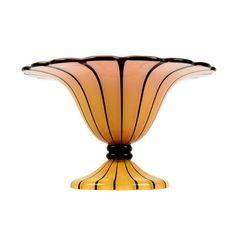 Loetz Art Glass Ausführung 157 An Extraordinary Pink and Tangerine Vertical  Strip Footed Bowl Exceptional Loetz f9532814f272