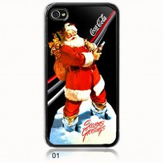 Santa claus Fly with Coca Cola iphone 4 case special christmas $13.89
