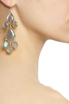18-karat gold labradorite earrings  Pippa Small