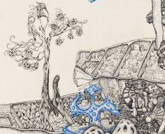 秋山对饮图 (2011) Li Qing (李晴; b1977, Beijing, China) | PIN made by RomANikki