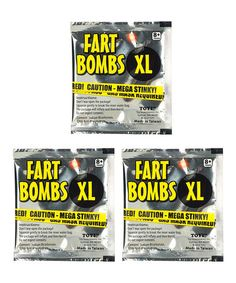 Another great find on #zulily! Fart Bomb - Set of Three #zulilyfinds