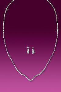 Rhinestone Jewelry Set - Bridesmaid - Simple Elegance (Crystal)