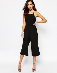 New Look | New Look Cross Back Culotte Jumpsuit at ASOS