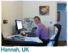 Hannah's desk at hom
