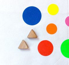 One Pair Mini Triangle Laser Cut Earring by CraftyCutsLaser, $1.25 #craftycutslaser #lasercut #lasercutwood