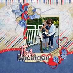Layout of the Day, August 19, 2016 created with Backyard BBQ by Bekah E Designs @ gottapixel.net