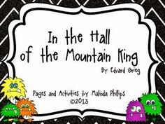 """Listening: In the Hall of the Mountain King Freebie! """"In the Hall of the Mountain King"""" active listening lessonFreebie! """"In the Hall of the Mountain King"""" active listening lesson Music Lesson Plans, Music Lessons, Piano Lessons, Music Classroom, Music Teachers, Classroom Ideas, Classroom Projects, Middle School Music, Music Worksheets"""