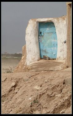 Blue door, suitable for an art project like the GCSE Openings