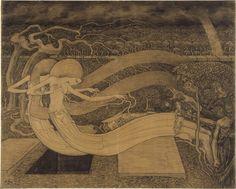 Jan Theodor Toorop Dutch impressionist, symbolist and art nouveau painter, illustrator and graphic designer Charles Rennie Mackintosh, Amsterdam, Illustration Art Nouveau, Blue Lantern, Dutch Painters, Dutch Artists, Art Database, Klimt, Jaba