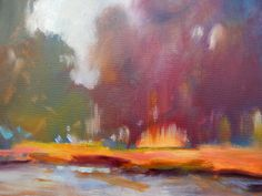 12x24 Along the River, oil, artist carly hardy SOLD