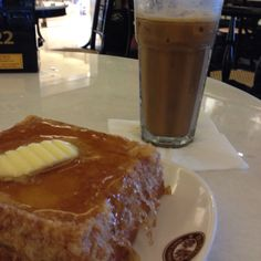 French Toast & Milk Coffee in Old Town White Coffee