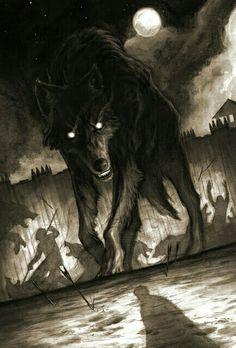 wolf Dark Fantasy, Fantasy Art, Anime Wolf, Werewolf Art, Vampires And Werewolves, Arte Obscura, Mythical Creatures, Dark Art, Amazing Art