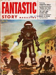 Fantastic Story Magazine Fall 1954 by Vintage Cool 2, via Flickr #graphicdesign…