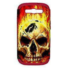 Samsung Galaxy SIII Hardcase - Burning Skull Requiem - PC+Silicon Technology