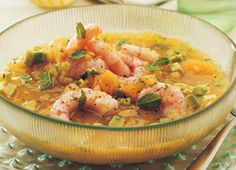Chilled Melon Soup with Shrimp and Avocado | Recipes | Eat Well | Best Health