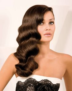 Finger waves hairstyle for long hair - Want this for a wedding I'm going to on Saturday.