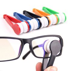 2Pcs Eyeglasses handle brush sunglasses cleaner home use spectacles clean brusher cleaning brush