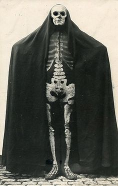 German skeleton costume circa 1915