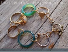 Bracelets : DIY Bracelets This would be great for rings we inherit, but cannot wear for one reason or another.