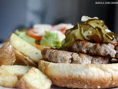 Receita Prato Principal : Hambúrguer caseiro de porco de MarolaCarambola