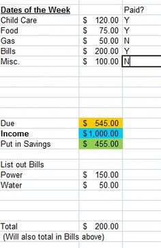 Awesome Budget Spreadsheet! Plug in your income