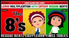 8 Times Table Song (Reggae Beatz) Learn to Fun & Catchy Songs! Times Tables, Multiplication, Reggae, How To Memorize Things, Songs, Teaching Ideas, Youtube, Fun, Videos