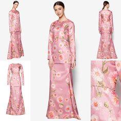 Fesyen Trend Terkini Bianco Mimosa Prisma Baju Kurung Moden Baju Raya 2017 Kebaya, Traditional Outfits, Raya 2017, Ruffles, Evening Dresses, Peplum, Wedding Inspiration, Gowns, Kaftan