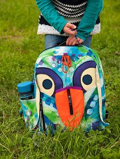 Birdy Kids Backpack Pattern Back To School Bird by Tutorial Girl