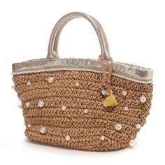 カカトゥ kakatoo パール付ペーパートート(ゴールド) -「買ってから選ぶ。」靴とファッションの通販サイト ロコンド