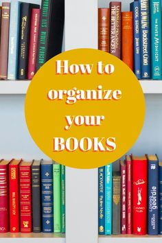 Are you a big reader with a storage issue? A look at book organizing and how to organize your books really well so they are accessible, look great and so that your bookshelves work for you. Pile Of Books, Types Of Books, Library Cabinet, Look At The Book, Bookshelf Organization, Gardening Books, Happy Reading, Finding A House, Great Books