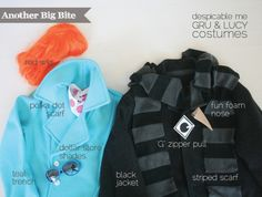 Another Big Bite - DIY Despicable Me Gru & Lucy Costumes