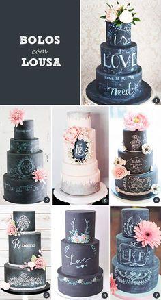 de casamento com efeito de lousa - Constance Zahn bolo-com-lousabolo-com-lousa Bolo Chalkboard, Chalkboard Wedding, Amazing Wedding Cakes, Amazing Cakes, Pretty Cakes, Beautiful Cakes, Cake Cookies, Cupcake Cakes, Wedding Donuts