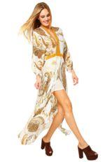 13ae506cd Vestido Longo Morena Rosa Cashmere Off White/Amarelo - Compre Agora    Dafiti Brasil Vestidos