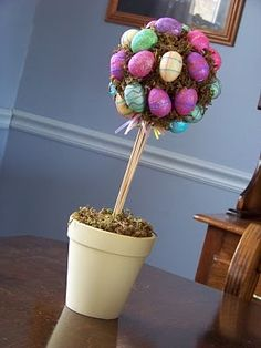Easter Egg Topiary, plus more on this website!!!! SUPER CUTE