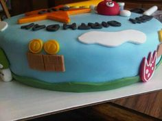 Side view of Super Mario Cake By Ally Watkins
