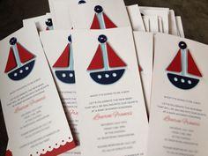Sailboat Baby Shower Invitations (10). $25.00, via Etsy.