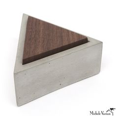 Walnut Lid Concrete Box Triangle