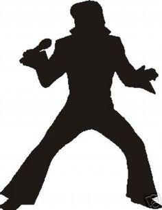 Fan Art of Silhouette for fans of Elvis Presley. Elvis Tattoo, Elvis Birthday Party, Festa Rock Roll, Rock And Roll, Elvis Cakes, Elvis Presley Images, Elvis Presley Cake, Flower Power, Sock Hop