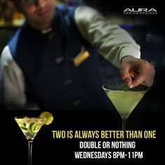 It's always good to get more than you ask for. Treat yourself to Double or Nothing at #Aura!