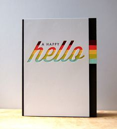 A Happy Hello Card by Cristina Kowalczyk for Papertrey Ink (February 2013)